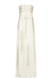 Matthew Williamson Embellished silk-chiffon gown