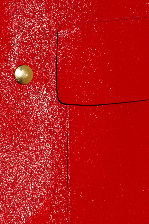 Marni Sleeveless leather coat