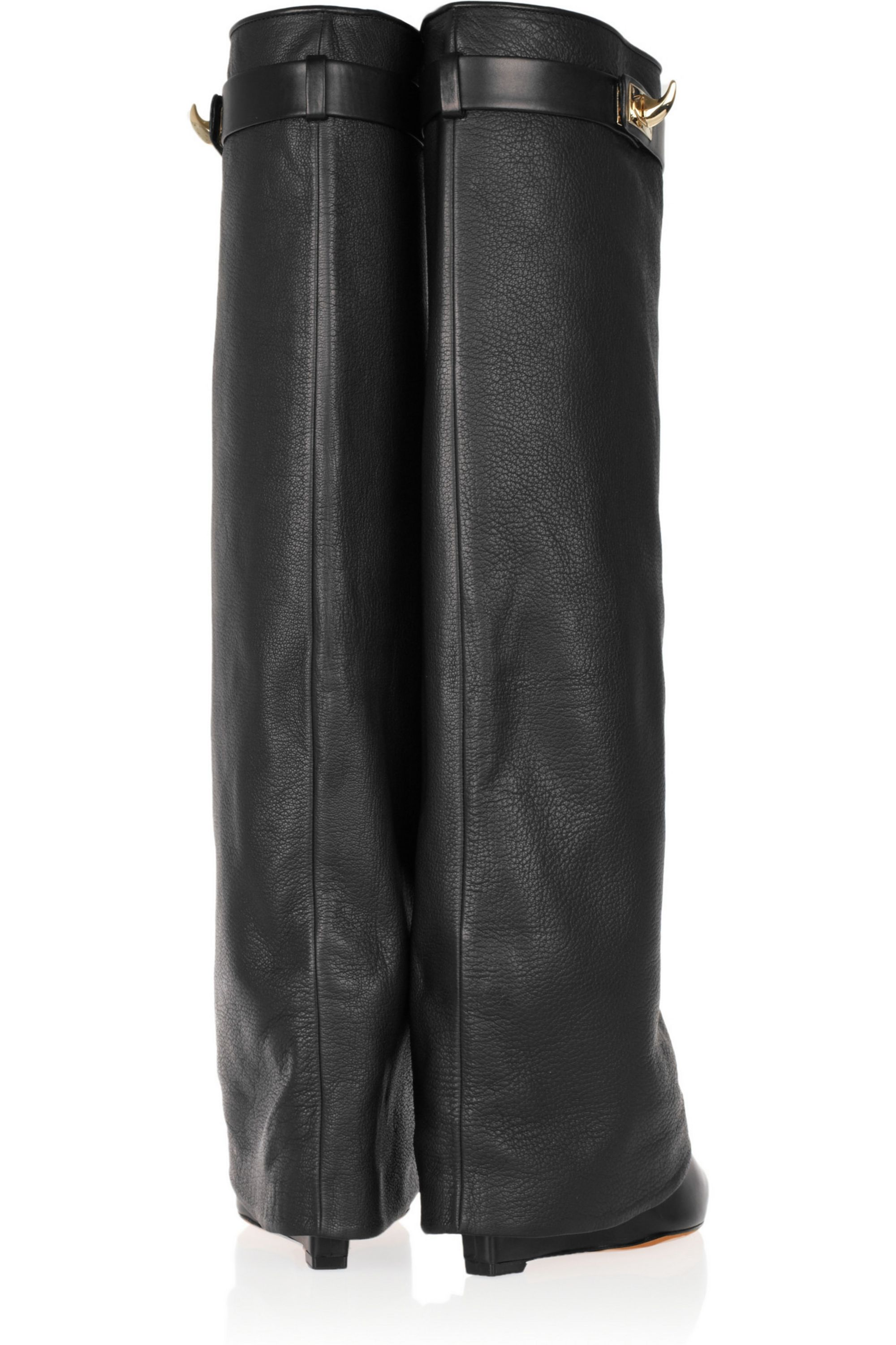 Givenchy Shark Lock leather wedge knee boots