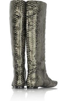 Devi KroellPython flat boots