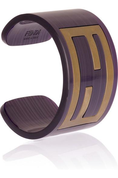 Fendi ff logo cuff net a porter com for Net a porter logo