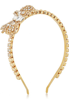 Miu Miu | Crystal and faux pearl headband