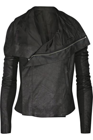 Sale alerts for Blister leather biker jacket Rick Owens - Covvet