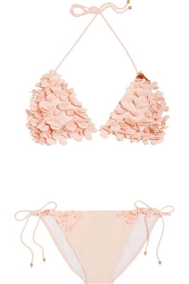 Sale alerts for Floral appliqué triangle bikini Miu Miu - Covvet