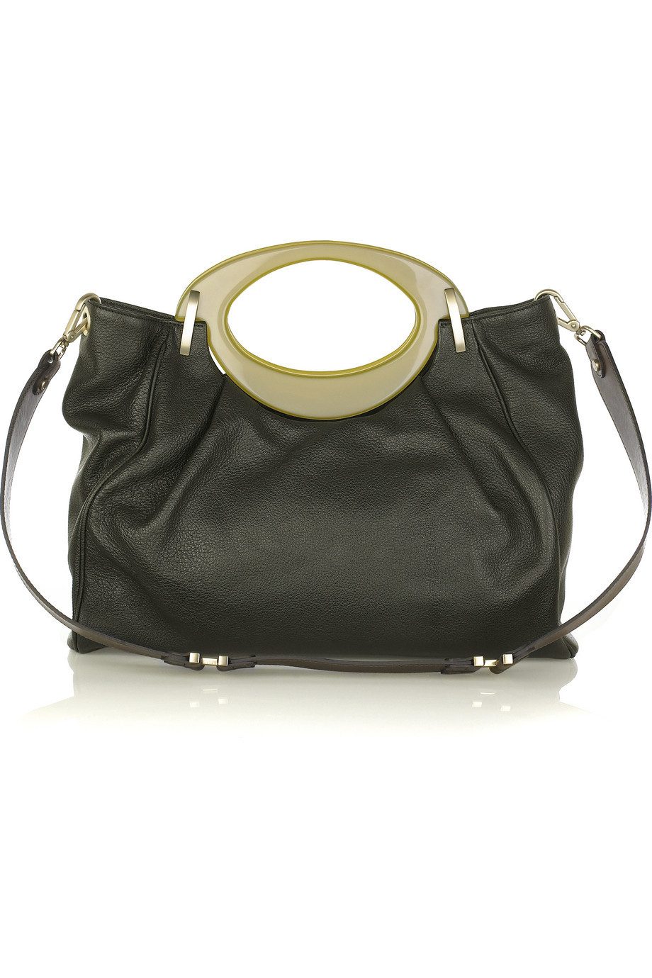 Marni Textured leather east west bag | NET-A-PORTER.COM from net-a-porter.com