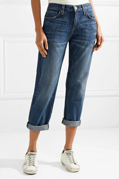 Current/Elliott Boyfriend verkürzte halbhohe Jeans