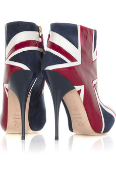 Alexander McQueen Union Jack ankle boots