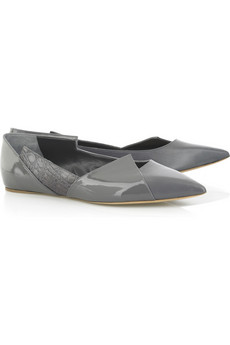 Chloé Paneled leather flats