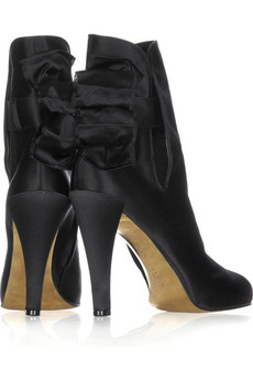 Christian Lacroix Bow ankle boots