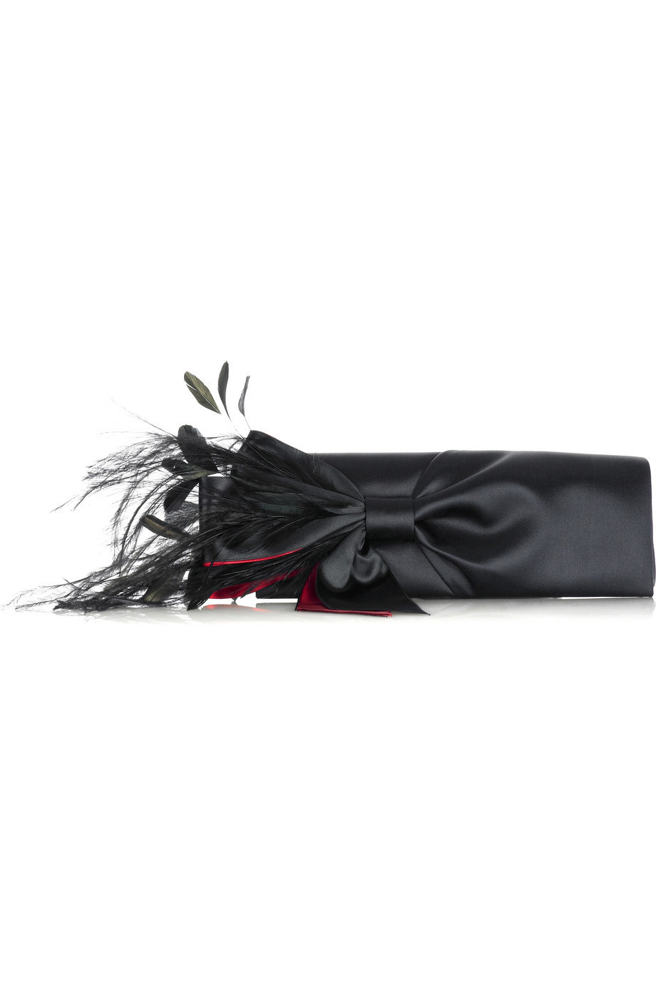 Christian Louboutin Cancan feather clutch  | NET-A-PORTER.COM from net-a-porter.com