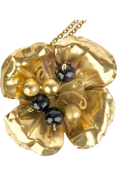 Roberto CavalliFloral crystal pendant