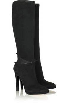 Roberto CavalliSuede bow boots