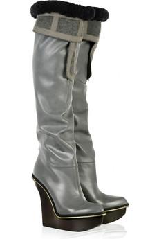 Stella McCartneyFaux sheepskin platform boots