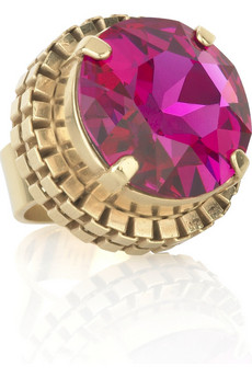 Mawi Oversized fuchsia ring