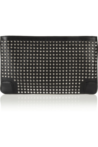 44d8a12b8ccd Christian Louboutin. Loubiposh spiked leather clutch