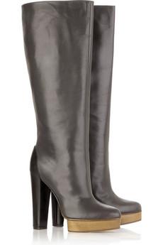MarniLeather platform boots
