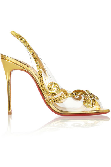 sale retailer 14778 34b1d Hameau Strass 100 crystal-embellished PVC sandals