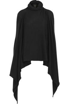 Rick OwensAsymmetric drape sweater