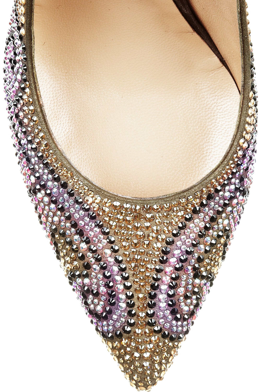 Nicholas Kirkwood Swarovski crystal-embellished suede pumps