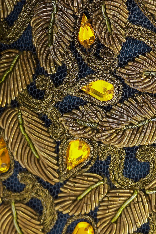 Alexander McQueen Embroidered balconette dress