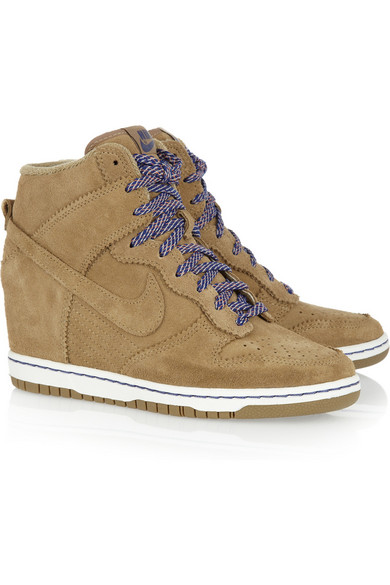 5885645103e6 Nike. Dunk Sky Hi suede wedge sneakers