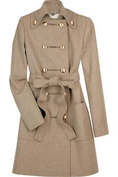 Шерстяное пальто невероятно красивого песочного цвета с бронзовыми.