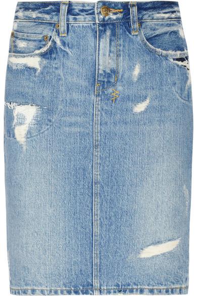Ksubi | Distressed denim skirt | NET-A-PORTER.COM