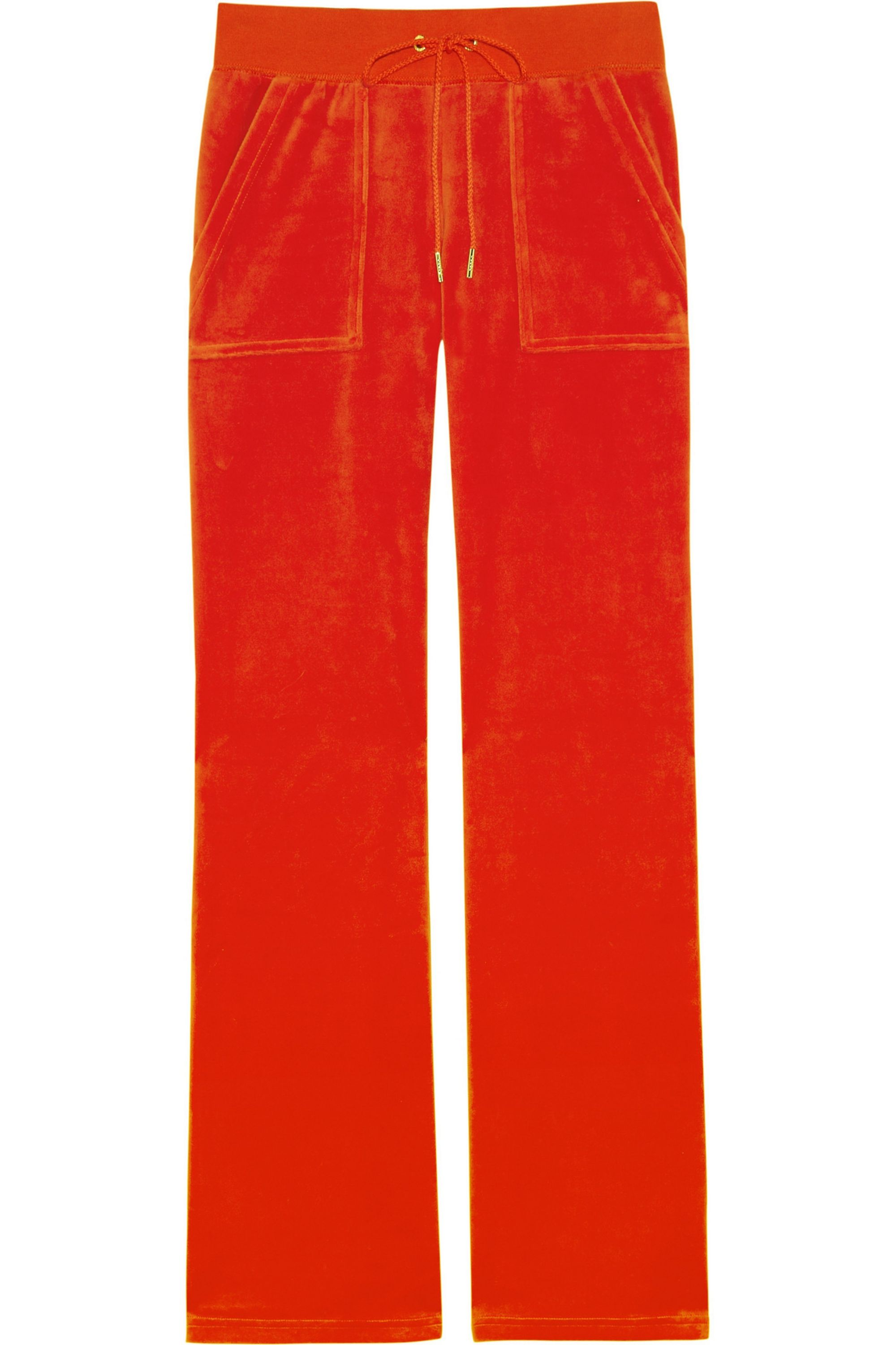 Tomato Red Velour Track Pants Juicy Couture Net A Porter