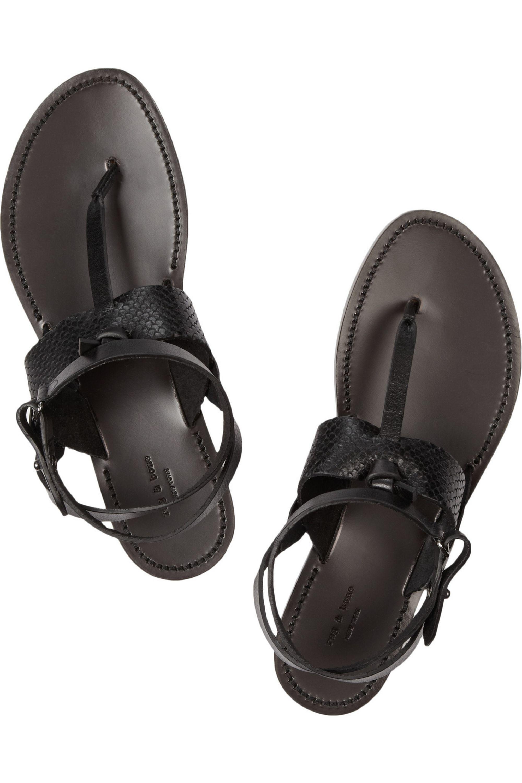 rag & bone Sigrid textured-leather sandals
