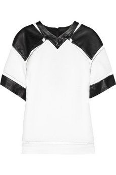 ALEXANDER WANG Crepe-twill and fishline top