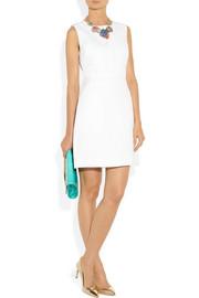 Diane von FurstenbergMargarina linen and cotton-blend canvas and crepe dress