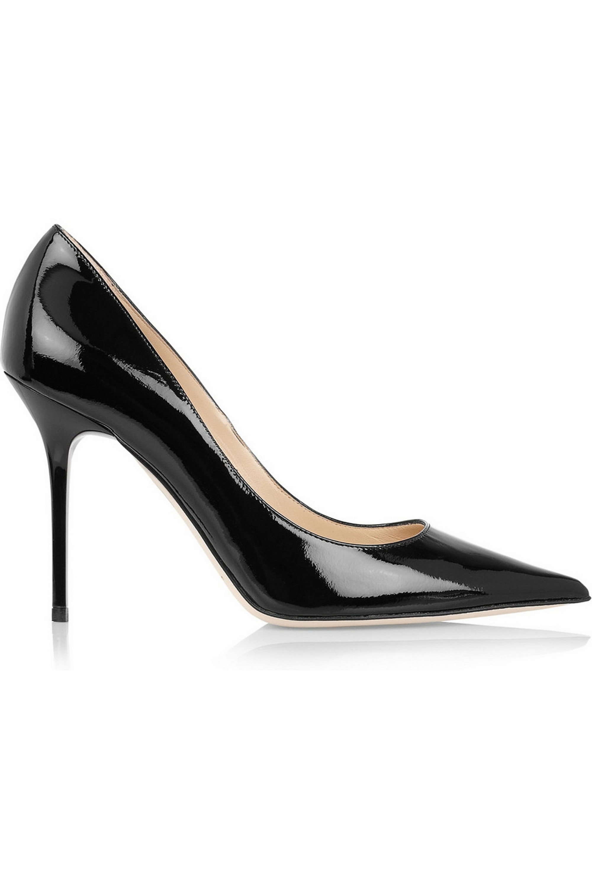 Abel patent-leather pumps by Jimmy Choo, available on net-a-porter.com for $297.5 Amal Clooney Shoes Exact Product