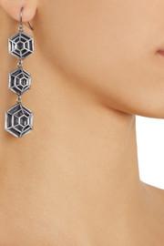 Bottega VenetaSterling silver caged cobweb drop earrings