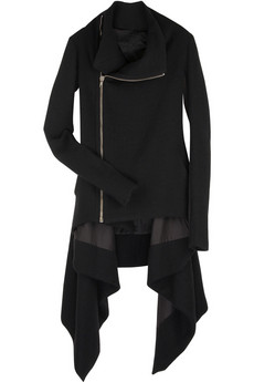 Rick Owens Wool funnel neck coat | NET-A-PORTER.COM from net-a-porter.com