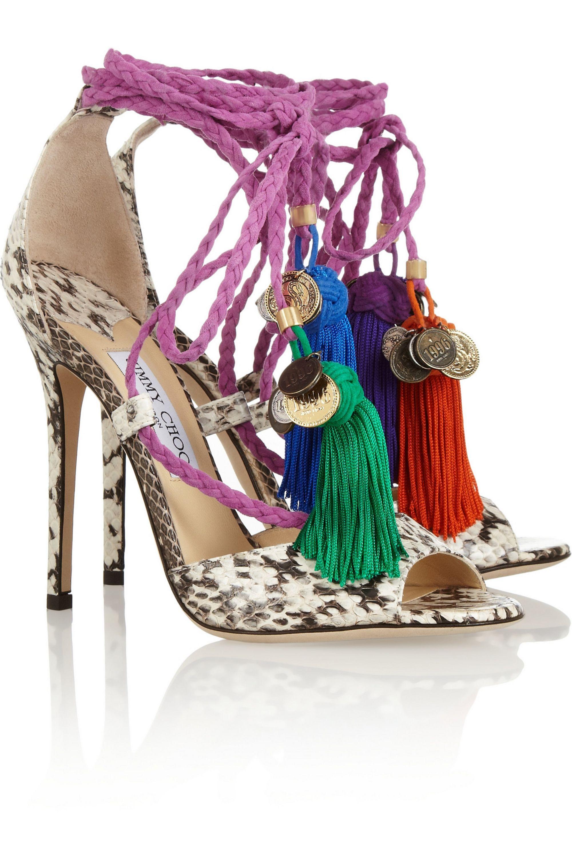 Jimmy Choo Dream rope-tie elaphe sandals