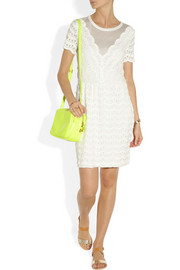 Marc by Marc JacobsScalloped lace and jersey dress