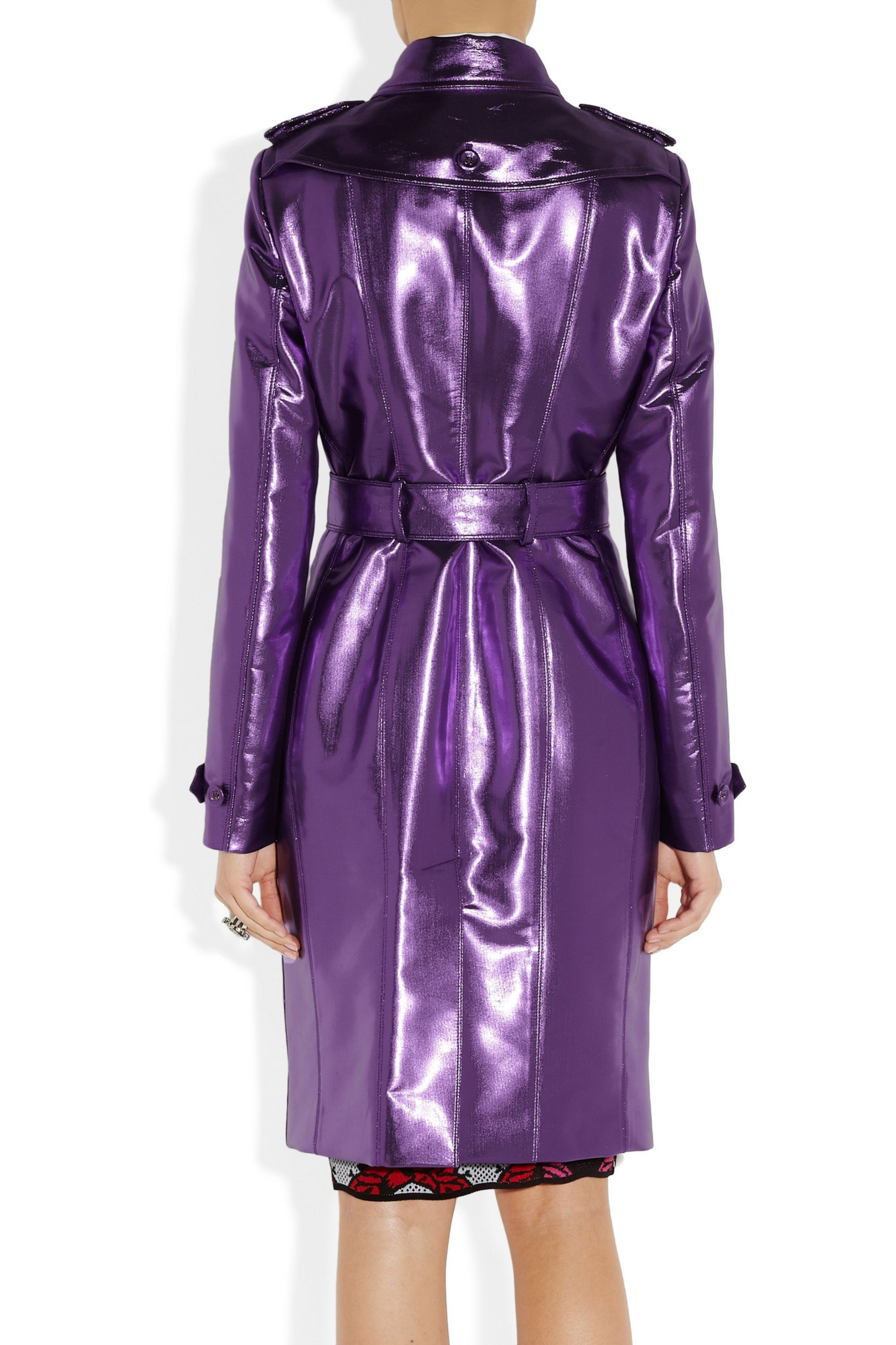 Burberry Metallic trench coat