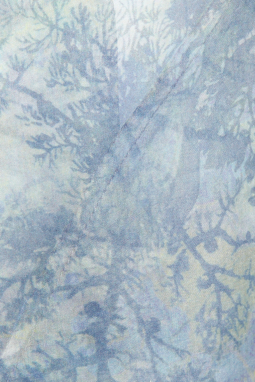 Erdem Mae printed silk-organza coat