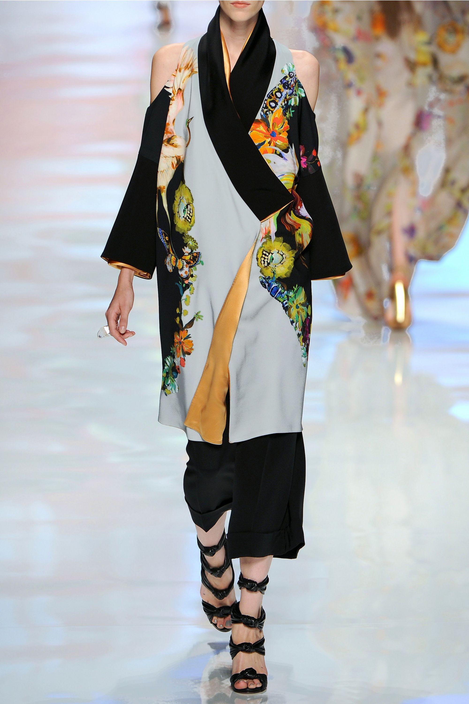 Etro Printed crepe kimono coat