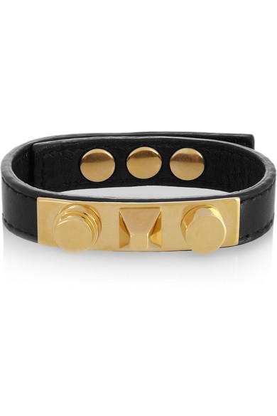 Saint Laurent Studded leather bracelet tmVxMGh