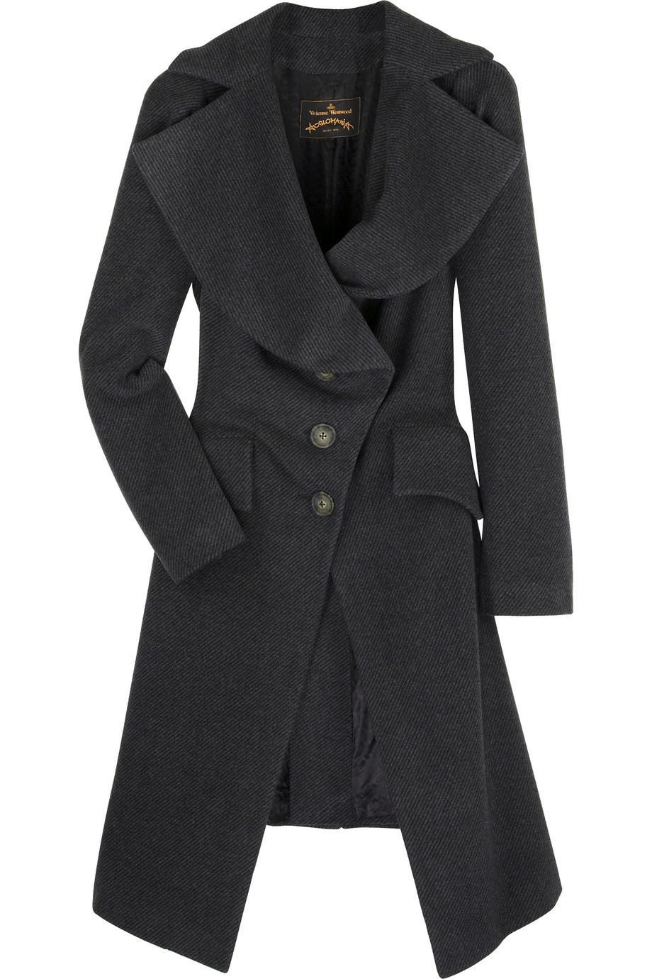 Vivienne Westwood Anglomania Jabot herringbone coat |NET-A-PORTER.COM from net-a-porter.com