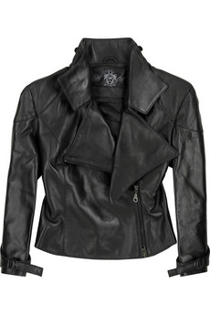Aminaka Wilmont Leather biker jacket