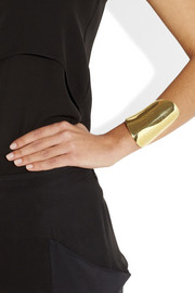 Maiyet Asymmetric polished gold-tone cuff