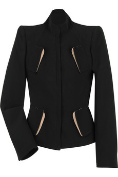 Alexander McQueen Crepe fitted jacket