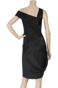 Alexander McQueenSatin one-shoulder dress