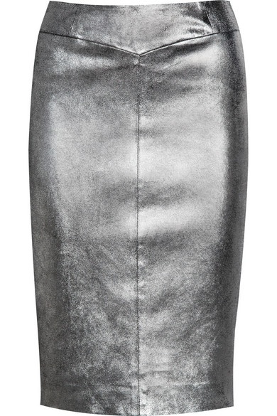 06311c2dafe Joseph. Clare metallic stretch-leather pencil skirt