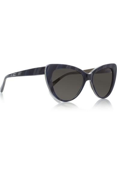 Prism Woman Capri Cat-eye Acetate Sunglasses Off-white Size Prism rFyBa3X8IH