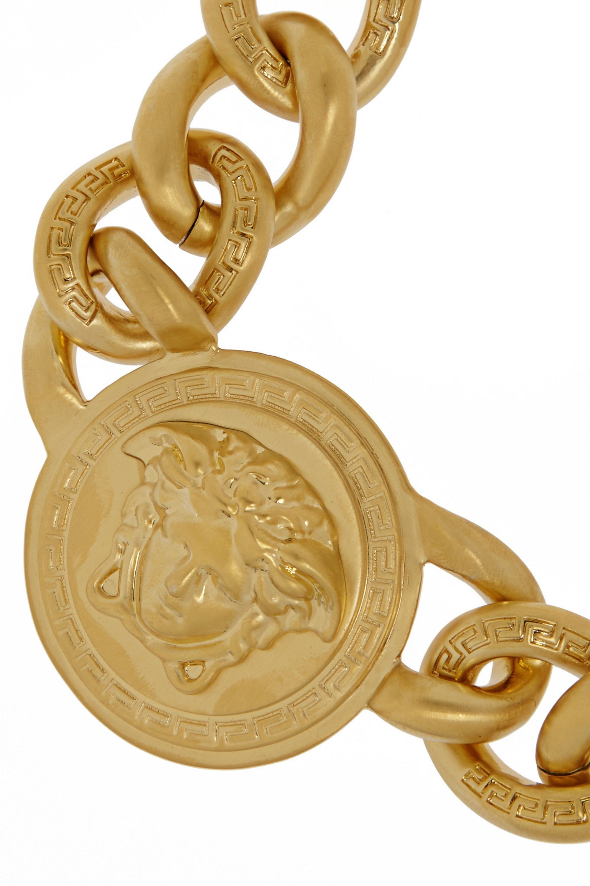 Versace Gold-plated chain link necklace