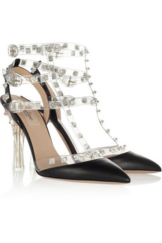 VALENTINO leather and PVC sandals
