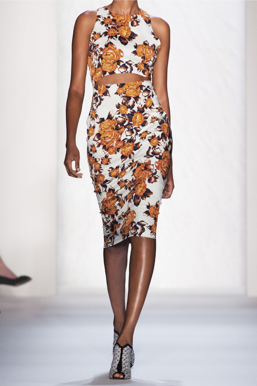 Suno Floral-print stretch-silk dress